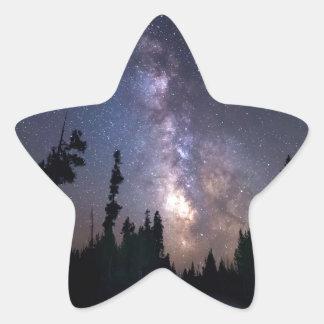Sticker Étoile Commande de manière laiteuse