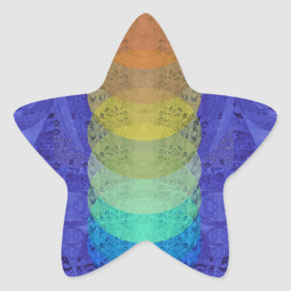 Sticker Étoile Conception de tapisserie de Chakra de yoga