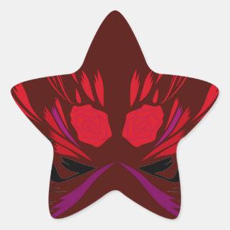 Sticker Étoile Conception de tatouage de henné de chocolat