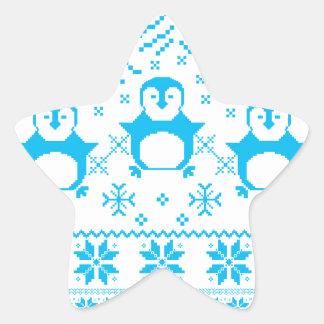 Sticker Étoile Conception scandinave bleue mignonne de vacances