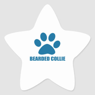 STICKER ÉTOILE CONCEPTIONS BARBUES DE CHIEN DE COLLEY