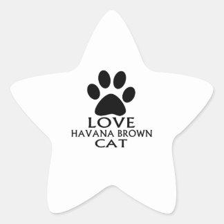 STICKER ÉTOILE CONCEPTIONS DE CAT DE LA HAVANE BROWN D'AMOUR
