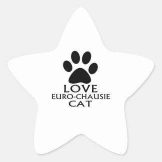 STICKER ÉTOILE CONCEPTIONS DE CAT DE L'AMOUR EURO-CHAUSIE