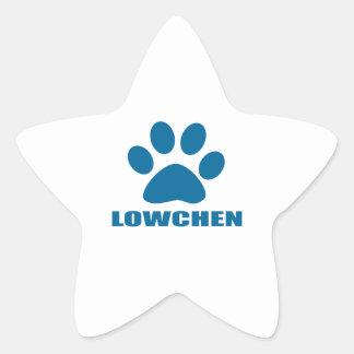 STICKER ÉTOILE CONCEPTIONS DE CHIEN DE LOWCHEN
