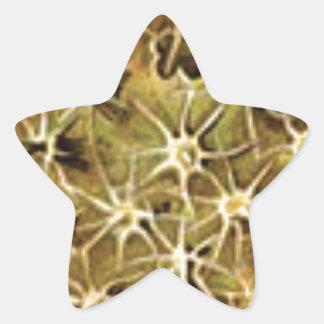 Sticker Étoile connexions de cerveau visualisées