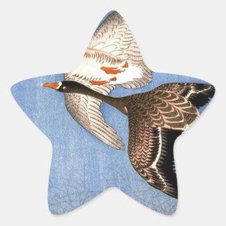 Sticker Étoile Copie vintage des oies de vol
