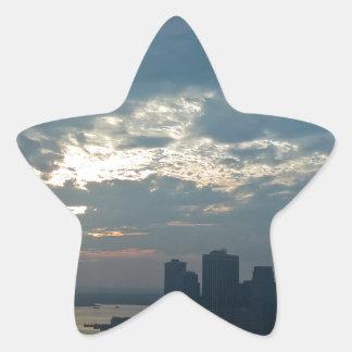 Sticker Étoile Coucher du soleil Manhattan1