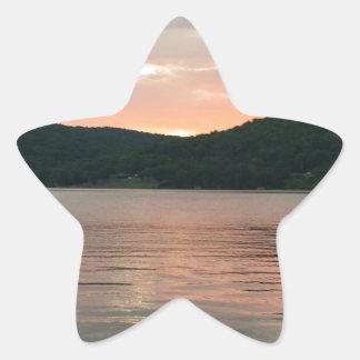 Sticker Étoile Coucher du soleil sur l'eau