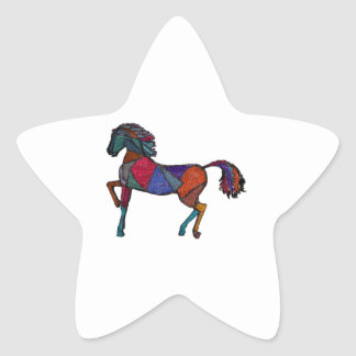 Sticker Étoile Couleurs vraies