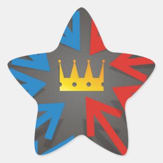 Sticker Étoile Couronne d'or