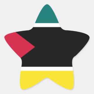 Sticker Étoile Coût bas ! Drapeau de la Mozambique