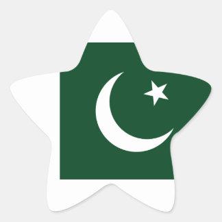 Sticker Étoile Coût bas ! Drapeau du Pakistan
