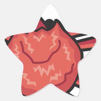 Sticker Étoile Crabe de neige