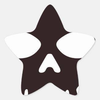 Sticker Étoile Crâne noir