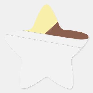 Sticker Étoile Crème glacée napolitain