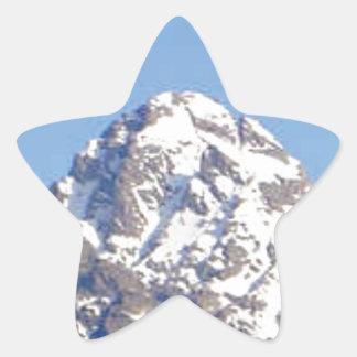 Sticker Étoile crête de couvercle rond