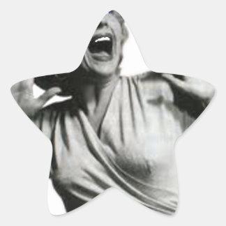 Sticker Étoile Criard de film d'horreur