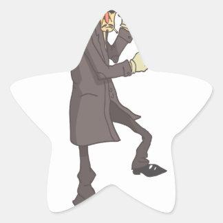 Sticker Étoile Criminel dangereux de tueur professionnel décrit