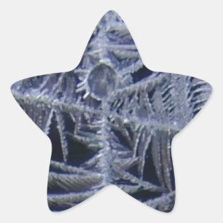Sticker Étoile croix d'étoile de glace