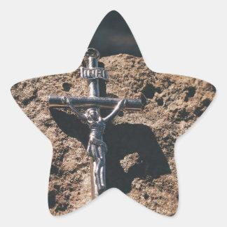 Sticker Étoile croix et sable