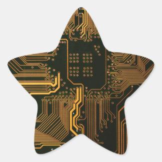 Sticker Étoile Cuivre frais et noir d'ordinateur de bord de