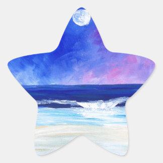 Sticker Étoile Danse pour la déclaration réfléchie d'art de lune
