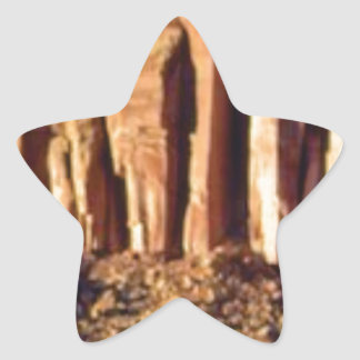 Sticker Étoile début rouge de falaise