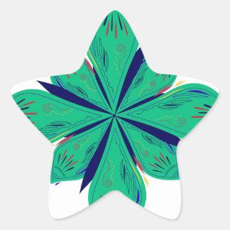 Sticker Étoile Deco vert d'Ethno de mandala