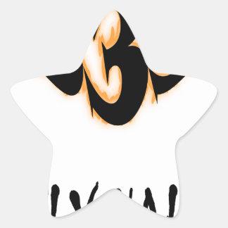 Sticker Étoile demi d'evil2