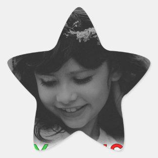 Sticker Étoile Demoiselle de honneur de jeunes de Joyeux Noël
