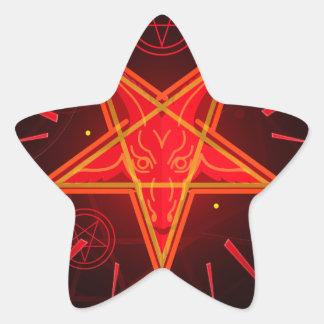 Sticker Étoile démon au néon