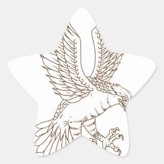 Sticker Étoile Dessin Swooping de balbuzard