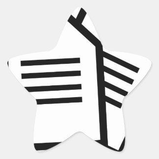 Sticker Étoile Documents sur papier
