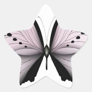 Sticker Étoile Domestique rose de marais de papillon rose