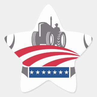 Sticker Étoile Drapeau américain de tracteur de ferme d'Antler