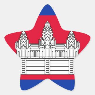 Sticker Étoile Drapeau du Cambodge