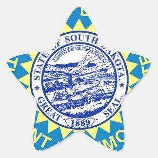 Sticker Étoile Drapeau du Dakota du Sud
