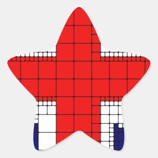 Sticker Étoile Drapeau R-U de cric des syndicats patriotique
