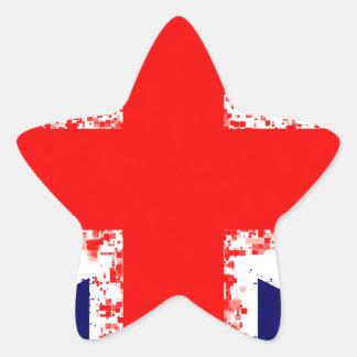 Sticker Étoile Drapeau R-U de Londres de cric des syndicats