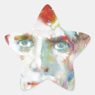 Sticker Étoile Dylan Thomas - aquarelle portrait.1