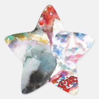Sticker Étoile Dylan Thomas - aquarelle portrait.2