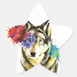 Sticker Étoile Éclaboussure de loup