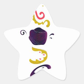 Sticker Étoile Édition folklorique brodée tirée par la main de
