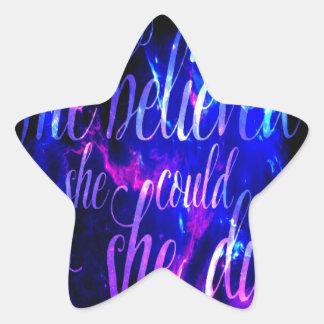 Sticker Étoile Elle a cru aux rêves d'améthyste