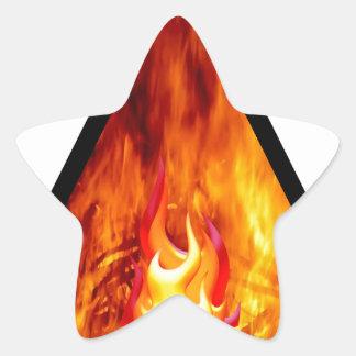 Sticker Étoile Énergie de flamme