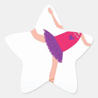 Sticker Étoile Enfant de patinage de glace sur le blanc