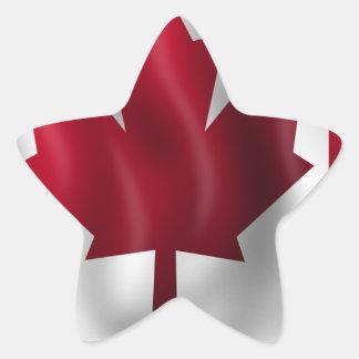 Sticker Étoile Érable canadien de feuille d'emblème de pays de