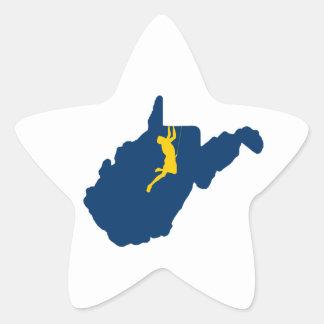 Sticker Étoile Escalade de la Virginie Occidentale