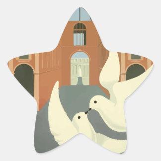 Sticker Étoile Express vintage de Milan l'orient de voyage