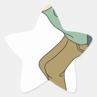 Sticker Étoile Faire de la planche à roulettes